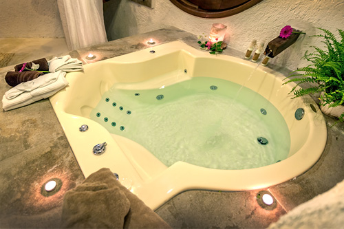 The private indoor SPA with heated whirlpool